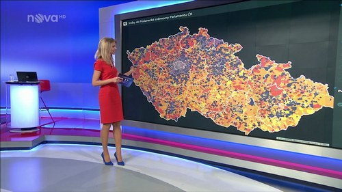election map, T-MAPY Analytical Maps played a key role in Czech Election 2017, T-MAPY spol. s r.o.